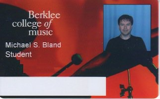 Mike Bland's 2013 Berklee College of Music ID