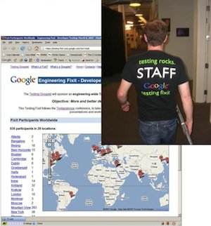 Testing Fixit 2007 T-shirt and web application