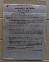 "Testing on the Toilet Presents Episode 83, ""Findability in the Facilities: Better Search: Found"""